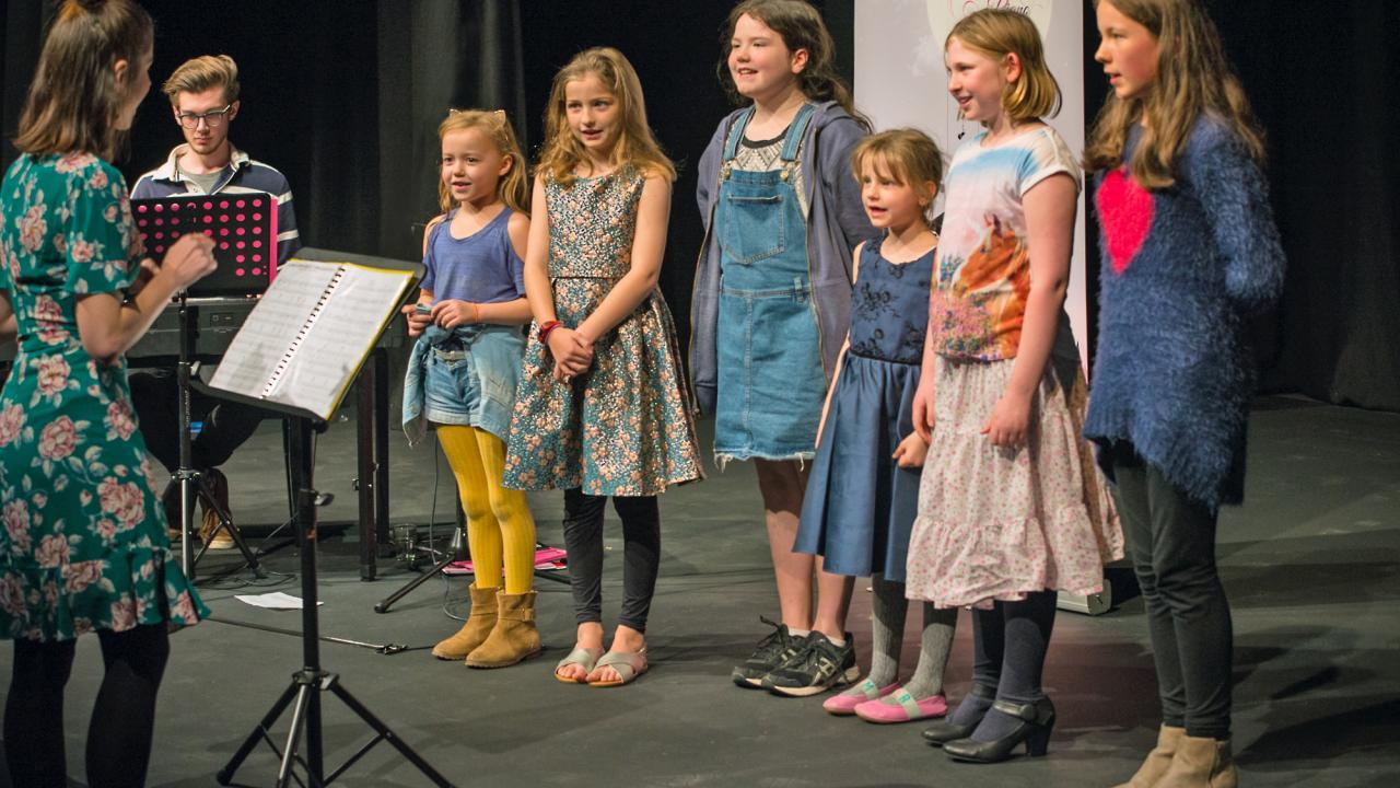 children's choir debut performance