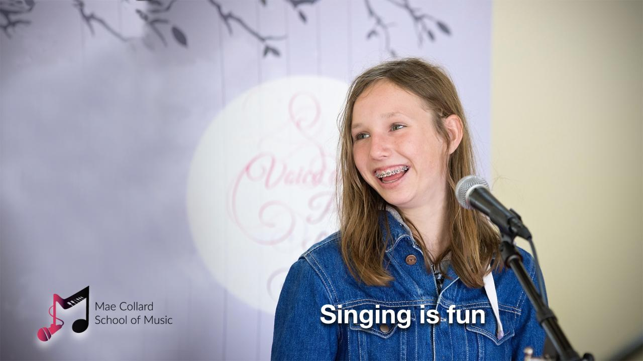 Singing is fun